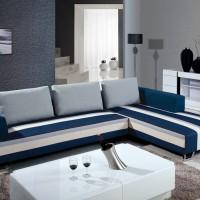 供应欧古特OS-时尚休闲蓝色条纹 小户型布艺沙发