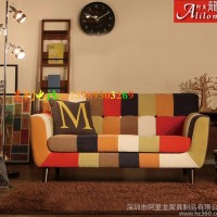 欧式酒店卧室咖啡厅客厅办公沙发定制单人双人三人布艺沙发椅