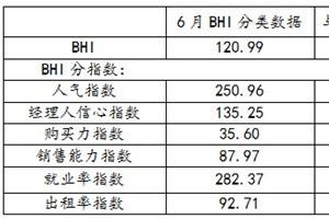 六月BHI回落上半年全国建材家居市场焕发新生机